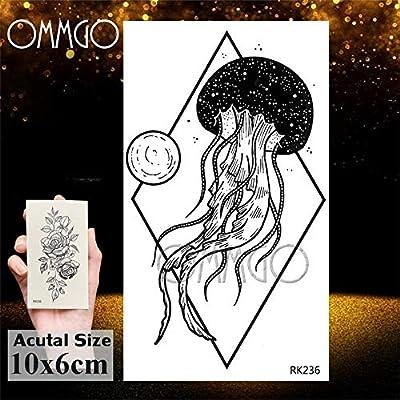 Yyoutop Negro Rosa Flor de la Camelia e Tatuajes Sketch Dibujo ...