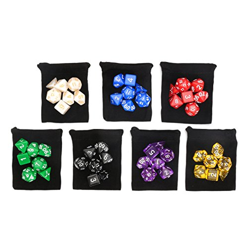 Carry Colors Multi Set 49pcs Sided Acrylic Bag Dice Digital w Polyhedral 7 ZnWwUwaqvT