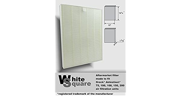 Amazon.com: Oreck Airinstinct 75, 100, 100, 150, 200 Air Filter Aftermarket Hepa Filter By White Square by White Square: Wall Art