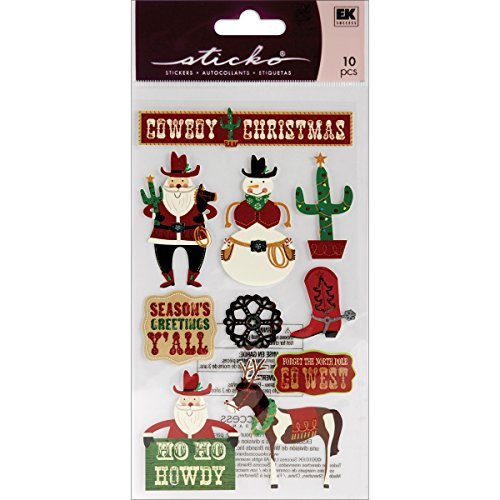 Sticko Cowboy Christmas Stickers