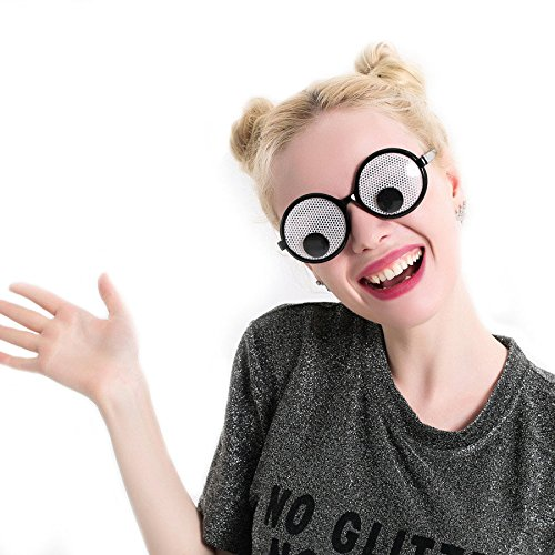 (Winnerbe Funny Googly Eyes Goggles Shaking Eyes Party Glasses and Toys for Party Cosplay Costume Christmas Halloween Party)