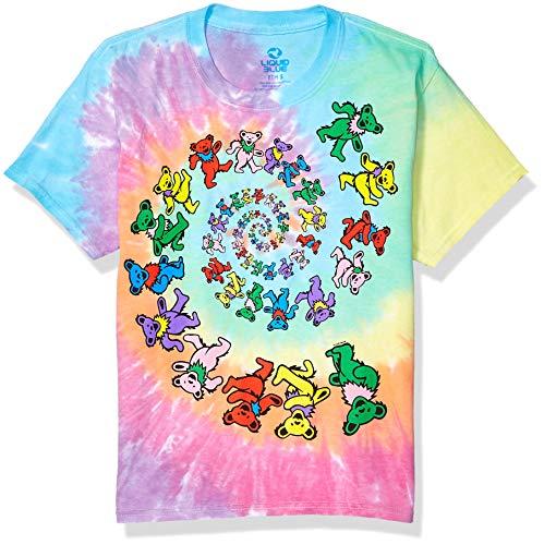 Liquid Blue Men's Grateful Dead Spiral Bears T-Shirt,