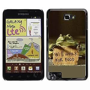 Exotic-Star Fundas Cover Cubre Hard Case Cover para Galaxy Note / i717 / T879 / N7000 / i9220 ( Divertido trabajará para la Alimentación de la rana )