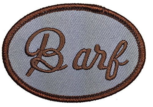 Spaceballs Barf The MOG Halloween John Candy Costume Iron On Name Badge Patch - By Patch Squad (Barf Spaceballs Costume)