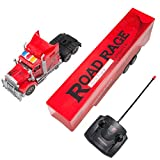 remote control 18 wheeler trucks - SumacLife Full Function Remote Controlled Red Big Rig Semi RC Trailer Truck Toy