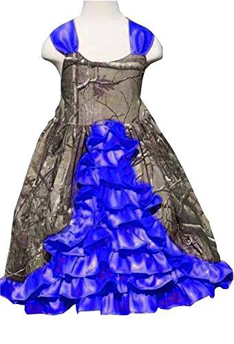 Purple Camo Flower Girl Dress
