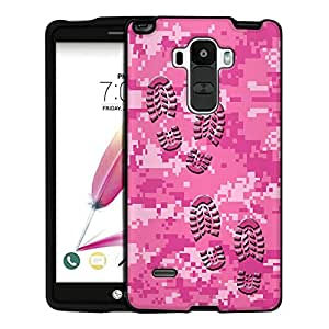 LG G Stylo Case, Snap On Cover by Trek Footprints on Digital Pink Camouflage Case