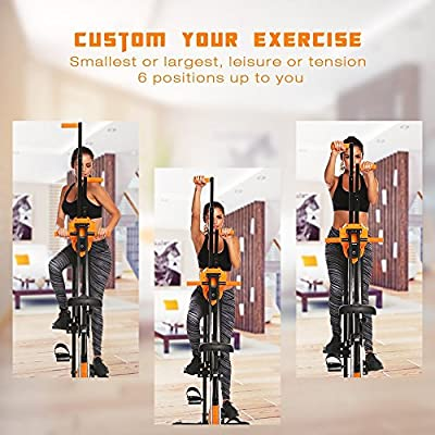 Garain 2 in 1 Vertical Climber Fitness Step Machines Gym Exercise Bike for Home (US Stock)