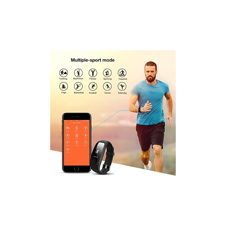 Fitness Tracker with Heart Rate Monitor,DBPOWER activity tracker , IP67 Waterproof Fitness Tracker with Step Tracker ,Sleep Monitor Calorie Counter ,Pedometer Watch for Android and IOS