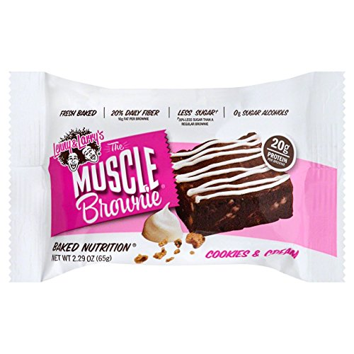 Lenny & Larry's Cookie's and Cream Muscle Brownie, 2.29 Ounce, 12 Count ()