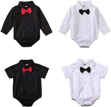Baby Boy Romper Newborn Gentleman Bowtie Clothes Jumpsuit Playsuit Bodysuit 0-2T