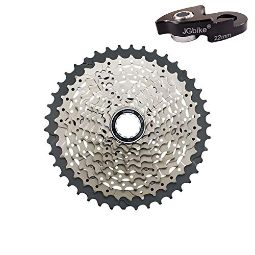 (JGbike Compatible 10-Speed Cassette for Shimano 11-42T Tiagra CS-HG500 Wide Ratio MTB Cassette, for 11-32 11-34 11-36 11-40T Upgrade)