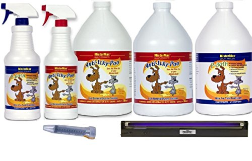 Anti Icky Poo Odor Remover Pro Kit Plus with 18'' Blacklight by Mister Max
