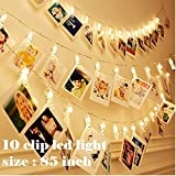 Satyam Kraft Battery Powered 10 Clip Indoor Outdoor Decoration Light