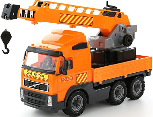 Wader Quality Toys PowerTruck Crane Vehicle, Orange, for sale  Delivered anywhere in USA