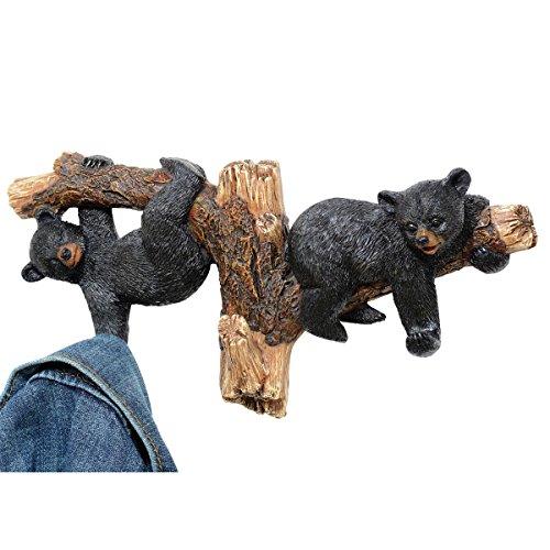 - Black Bears on Branch Wall Hooks