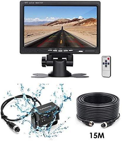 """バックアップカメラシステム24Vは逆の背面図のカメラ15Mケーブル7""""を大型トラックバスRVのトレーラーのためのTFT LCD車のモニター防水します"""