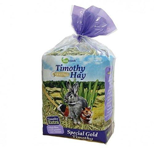 Homefriends Heno para Conejos, Enanos, Hamsters, Cobayas y Roedores Timothy Hay (600 g). Comida para Conejos con Fibra…