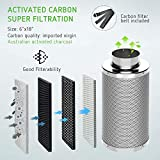 VIVOSUN 6 Inch Air Carbon Filter Odor Control with