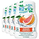 H2wOw Water Enhancer Drops - ORGANIC & Natural Extracts of Real Fruit - a Hint of Organic Stevia - Makes 768 oz of Delicious Mandarin Grapefruit Flavored Water