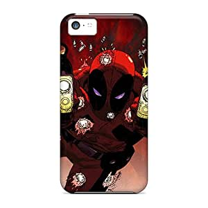 Tpu Case Cover For Iphone 5c Strong Protect Case - Deadpool I4 Design