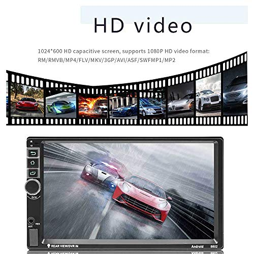 7 Inch Touch Screen Android 7 1 QuadCore CPU Double Din Car Stereo