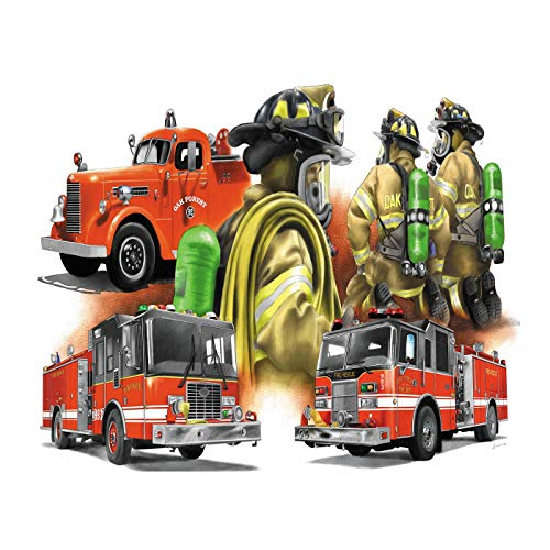 Aphila Diamond Painting Kits for Adults Round Drills Full Resin Rhinestones Embroidery Cross Stitch Decor Gift Fire Engine 30x40cm/12