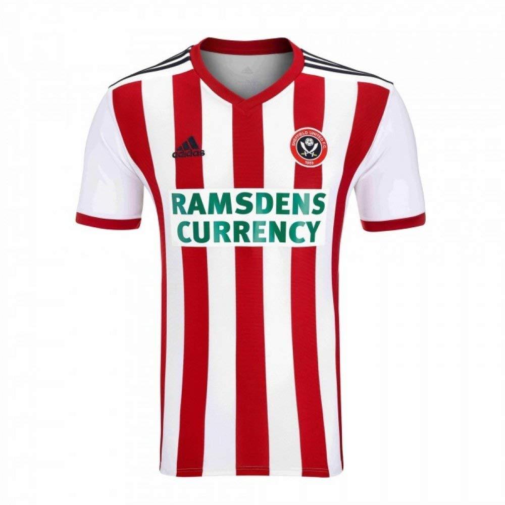 Adidas 2018-2019 Sheffield United Home Football Soccer T-Shirt Trikot