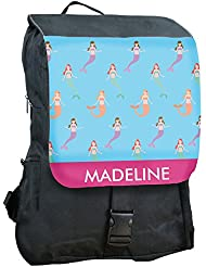 Personalized Mermaids Backpack, 14 x 19, Zippered Pockets, Adjustable Straps