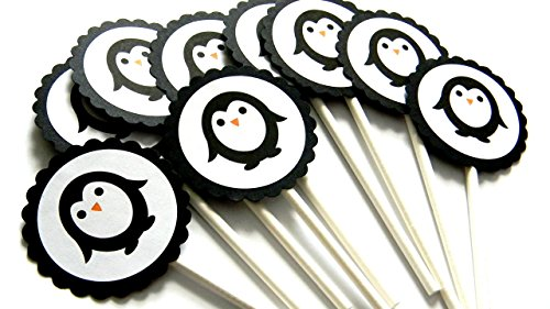 Penguin Cupcake Toppers - Set of 12 ()