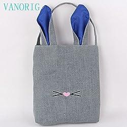 Women Shopping Bags Shopping Box VANORIG? Fodable Environmental Shopping Bag Basket Stylish Gift Bag ,Pack of 1 (Purple Ears)