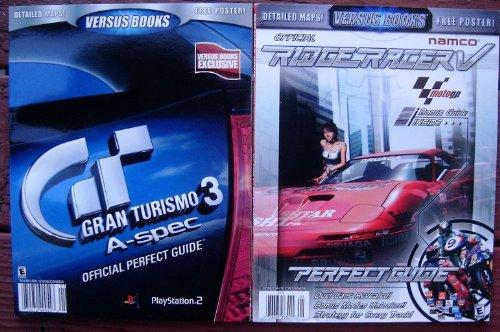 Price comparison product image 2x Versus Books Gran Turismo 3 A Spec Vol 28 & Ridge Racer V - Moto GP Vol 19 Perfect Guide (Versus Books Perfect Guide)