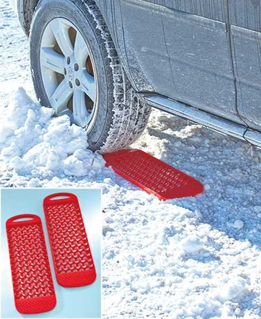 """Durable, Affordable Set of 2 Tire Treads Made From Plastic- 8""""w X 24-1/2""""d X 7/8""""h"""