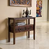 Noah Brown Mahogany Wood Accent Table Review