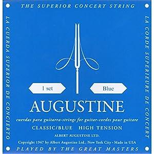 Augustine Klassik Gitarrensaiten Blue Label Satz Regular Tension/Basssaiten High Tension