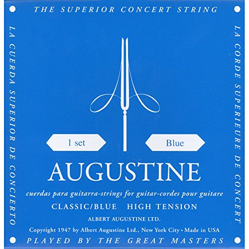 Augustine Classic Blue set, High Tension Classical Guitar Strings