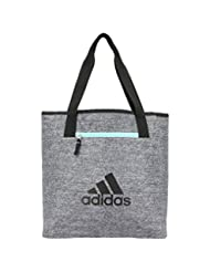 adidas Women\'s Studio II Tote Bag, One Size, Onix Jersey/Bla...