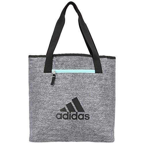 adidas Women's Studio II Tote Bag, One Size, Onix Jersey/Black/Energy Aqua