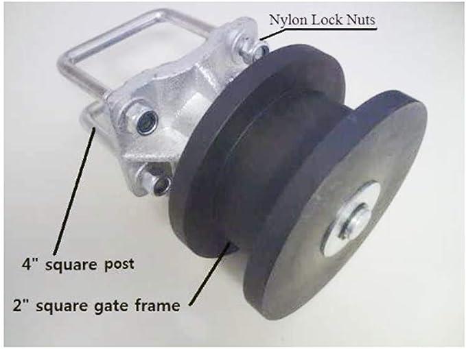 "4/"" Square Post x 2/"" Square Gate Frame Premium Nylon Cantilever Roller"