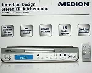 Medion MD81602 CD-cocina radio estéreo de diseño de la parte inferior de la base compatible con temporizador B-Ware