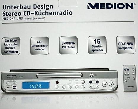 Medion MD81602 Unterbau Design Stereo: Amazon.de: Elektronik