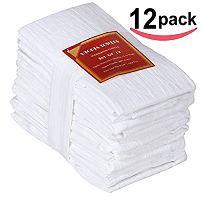 Flour-Sack-Towels Dish-Cloth Kitchen-Towels Pure Cotton 12-Pack, 28x28 Inch By Utopia Kitchen