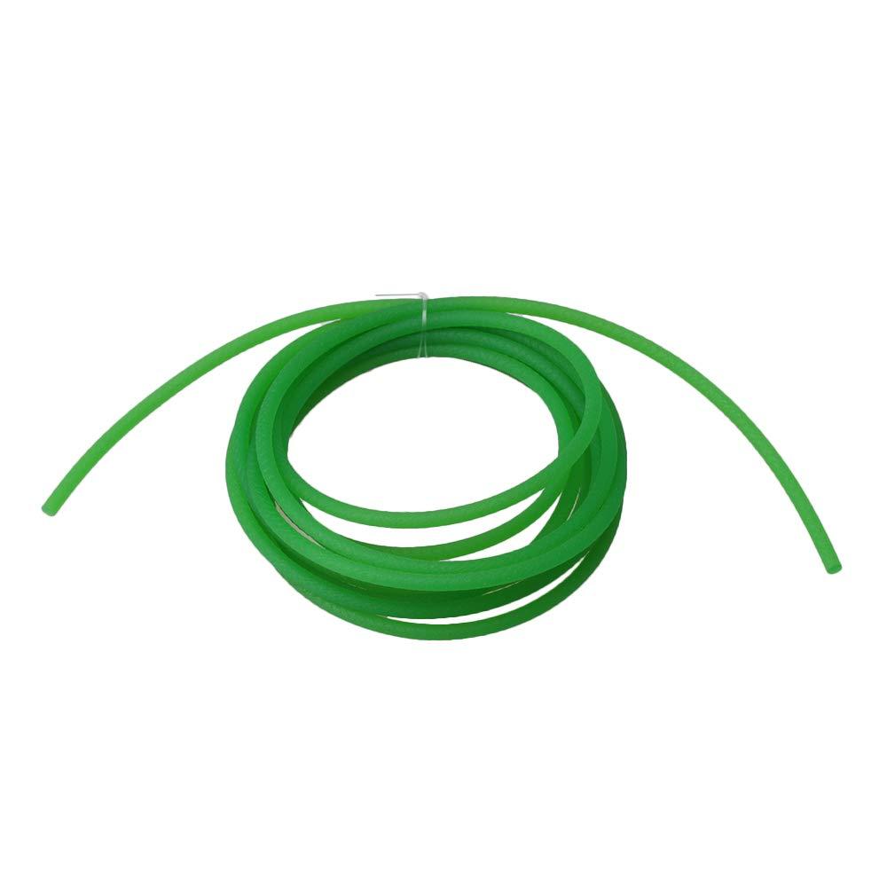 BQLZR - Cinturó n redondo de poliuretano para polea en forma de V (200 cm de largo, 3 mm de diá metro), color verde 3 mm de diámetro)