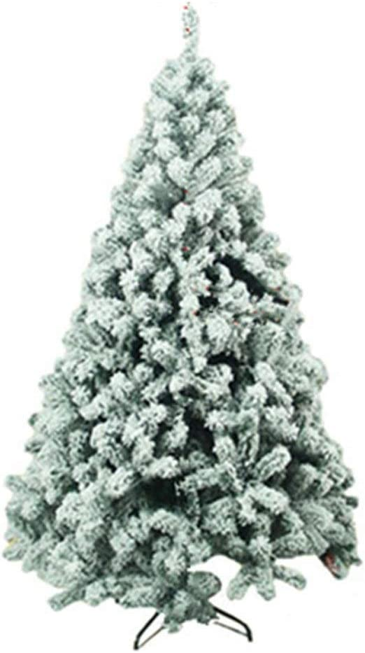 Artificial Christmas Tree White Snow Covered Xmas Decorations Decor 4ft to 8ft