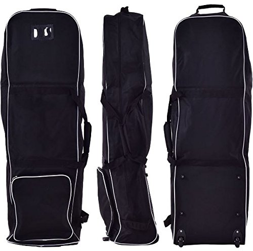 K&A Company Golf Bag Foldable Travel Cover Wheel Black Outdoor Club Oxford Carrying Case Durable Cloth by K&A Company (Image #4)
