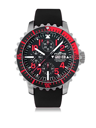 Fortis 671.23.43 K Mens Marinemaster Chronograph Chronograph Black Dial Automatic Watch