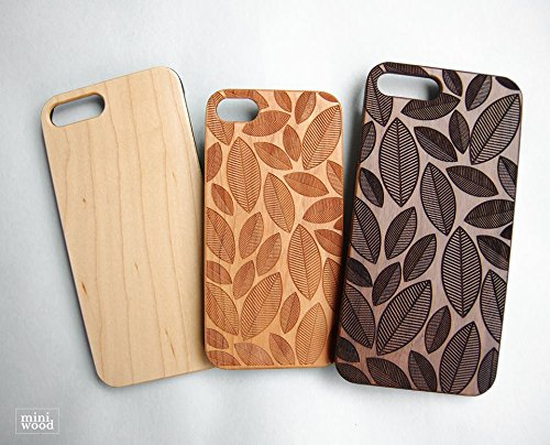 Crane Cloud Pattern - Miniwood iPhone/ Samsung Case - Natural Real Wooden, Laser Engraving, Unique Case, Unique, Classy & Stylish Wood, Protective Bumper with Real All Wooden Cover,