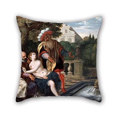 Throw Pillow Case 20 X 20 Inches / 50 By 50 Cm(both Sides) Nice Choice For Family,girls,bar,study Room,home Theater,wife Oil Painting Von Hagelstein, Thomann, Jacob Ernst - Susanna And The Elders