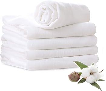 5-Pack YOOFOSS Muslin Burp Cloths 6 Layers Extra Absorbent