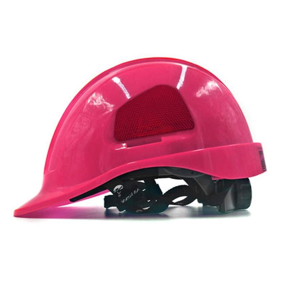 FEI JI Hard Hats - ABS Construction Anti-collision Ventilation Cap Labor Insurance Electrician Helmet -''Keep Cool'' Ventilated Helmet, Fully Adjustable, Cap Style - Engineering Helmet Safety Accessori